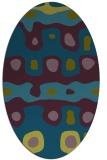 rug #700997   oval green abstract rug