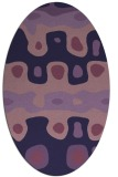 rug #701033 | oval purple abstract rug
