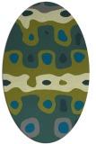 rug #701067 | oval abstract rug