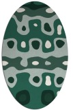 rug #701069 | oval blue-green abstract rug