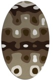 rug #701077 | oval white abstract rug