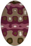 rug #701089 | oval beige popular rug