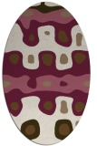 rug #701090 | oval retro rug