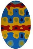 rug #701105 | oval blue rug