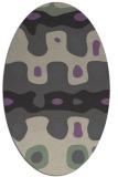 rug #701117 | oval beige abstract rug