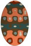rug #701133 | oval orange retro rug