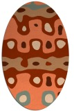 rug #701137 | oval red-orange abstract rug