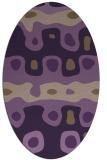 rug #701169   oval purple retro rug