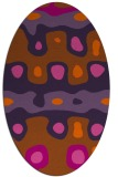 rug #701201 | oval red-orange abstract rug