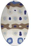 rug #701217 | oval white rug