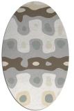 rug #701221 | oval white abstract rug