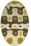 rug #701225 | oval yellow retro rug