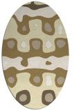 rug #701229 | oval yellow retro rug