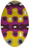 rug #701237 | oval white abstract rug