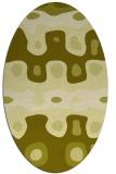 rug #701257 | oval light-green abstract rug