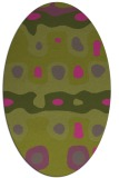 rug #701265 | oval light-green rug
