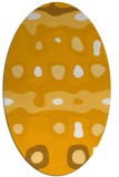 rug #701273 | oval light-orange abstract rug