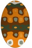 rug #701281   oval light-orange retro rug