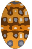 rug #701285 | oval white abstract rug