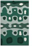 rug #701421    blue-green abstract rug