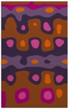 rug #701553 |  red-orange abstract rug