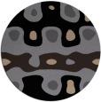rug #701653 | round beige abstract rug