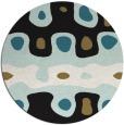 rug #701661 | round brown retro rug