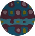 rug #701701 | round green abstract rug