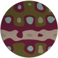 rug #701761 | round brown retro rug