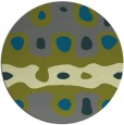 rug #701769 | round green abstract rug