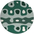 rug #701773   round green abstract rug