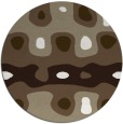 rug #701781 | round white abstract rug