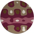 rug #701793 | round beige abstract rug