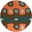 rug #701837 | round orange retro rug
