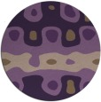 rug #701873 | round mid-brown retro rug