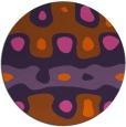rug #701905 | round red-orange retro rug