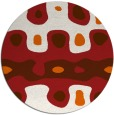 rug #701909 | round red-orange abstract rug