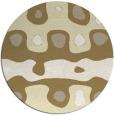 rug #701933   round yellow abstract rug