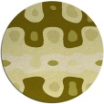 rug #701961   round light-green abstract rug