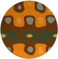 rug #701985 | round light-orange retro rug