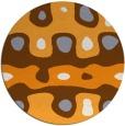 rug #701989 | round light-orange abstract rug