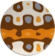 rug #701990 | round retro rug