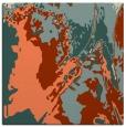 rug #702541 | square orange graphic rug