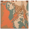 rug #702545 | square red-orange abstract rug