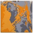 rug #702693 | square light-orange abstract rug