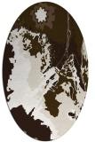 rug #702697   oval beige graphic rug