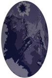 rug #702781 | oval blue-violet graphic rug