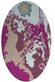 rug #702853 | oval pink graphic rug