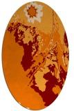 rug #702889 | oval orange graphic rug