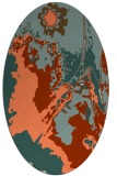rug #702893 | oval orange graphic rug